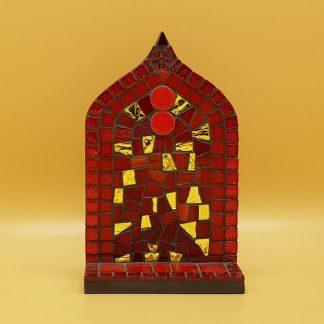 uniek mozaiek altaartje rood goud