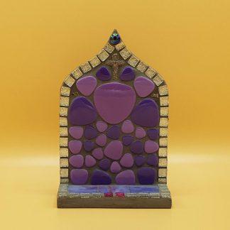 uniek mozaiek altaartje paars