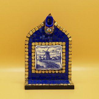 uniek mozaiek altaartje delfsblauw klomp