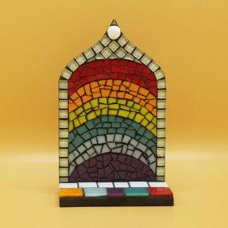 uniek mozaiek altaartje regenboog