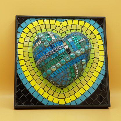 uniek mozaiek schilderij hart