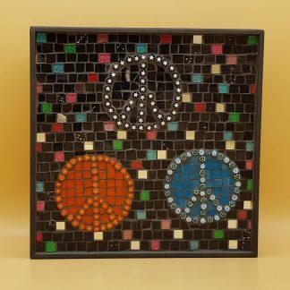 uniek mozaiek schilderij vrede