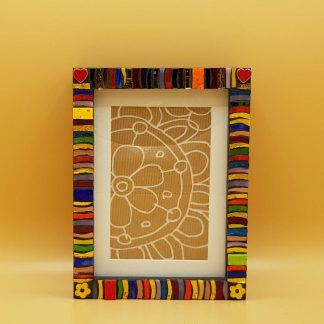 uniek mozaiekfotolijst hartjes