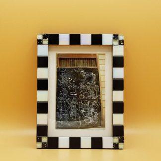 uniek mozaiekfotolijst zwart/wit