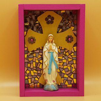 mozaiek kunstkistje maria