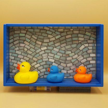 mozaiek kunstkistje badeendjes