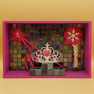 mozaiek kunstkistje prinsesje