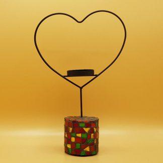 unieke mozaiek waxinelichthouder hart