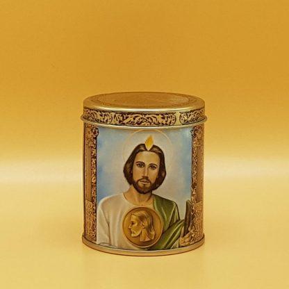kaars in blik religie