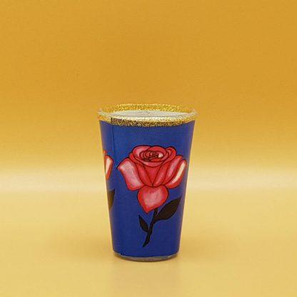 kaars in glas met roos