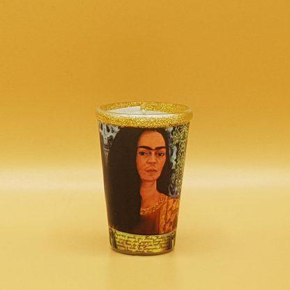 kaars in glas