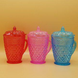 plastic suikerpot met deksel