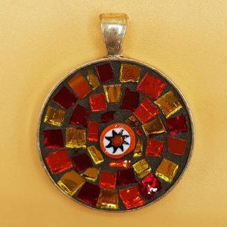 mozaiek sieraad hanger rond