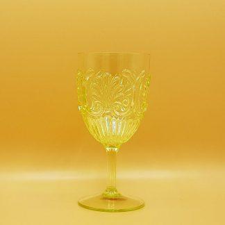 plastic waterglas geel